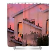 Sunsets On Houses Shower Curtain
