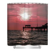 Sunsetting On The Gulf Shower Curtain