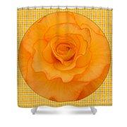 Sunshine Begonia Shower Curtain