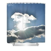 Sunshine Clouds Shower Curtain