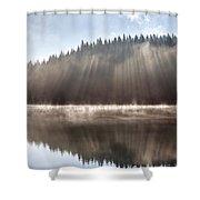 Sunshine Lake Shower Curtain