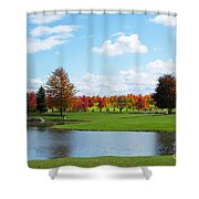 Sunshine On A Country Estate Shower Curtain