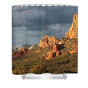 Sunshine On Sedona Rocks Shower Curtain