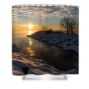 Sunshine On The Ice - Lake Ontario Toronto Canada Shower Curtain