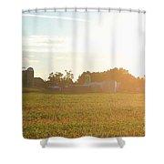 Sunshine Over The Farm Shower Curtain