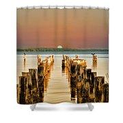 Sunshine State Sunset Shower Curtain