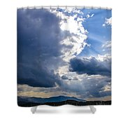 Sunshines In Blackness Shower Curtain