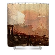Sunsrise Over Brooklyn Bridge Shower Curtain