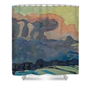 Sunup On A Snowsquall Shower Curtain