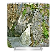 Sunwapta Falls Along  Icefields Parkway In Alberta Shower Curtain
