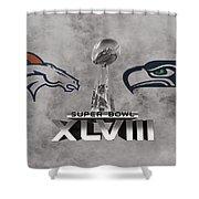 Super Bowl Xlvlll Shower Curtain