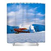 Super Cub Piper Bush Airplane Shower Curtain