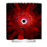Super Massive Black Hole Shower Curtain