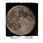 Super Moon 3626 August 2014 Shower Curtain
