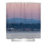 Super Moon And Sailing Panorama Shower Curtain