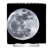 Super Moon Over Arizona  Shower Curtain