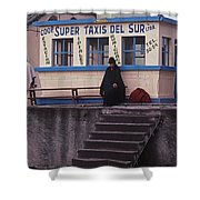 Super Taxi Stand Shower Curtain