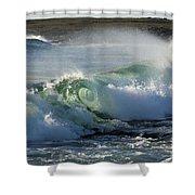 Super Wave At The Barents Sea Coast Shower Curtain