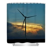 Supercell Windmill Shower Curtain