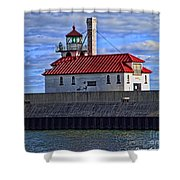 Superior And Duluth Harbor Lighthouse Shower Curtain
