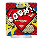 Superman Boom  Shower Curtain