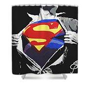 Superman Shower Curtain by Erik Pinto