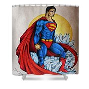 Superman Lives On Shower Curtain