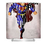 Superman - Man Of Steel Shower Curtain