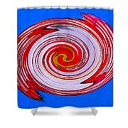 Superman In Motion Shower Curtain