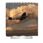 Supermarine Spitfire Mk Lfix  Shower Curtain