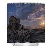 Supermoon At Mono Lake Shower Curtain