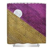 Supermoon Original Painting Shower Curtain