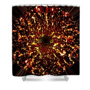Supernova Shower Curtain by Christopher Gaston