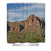 Superstition Mountains  Shower Curtain