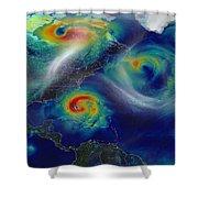 Superstorm Sandy Shower Curtain