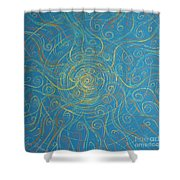 Superstrings Of The Qark Shower Curtain