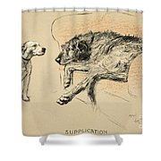 Supplication Shower Curtain