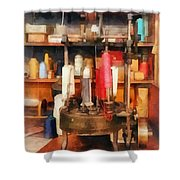 Supplies In Tailor Shop Shower Curtain