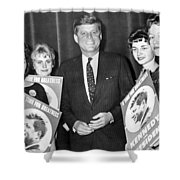 Supporters Greet Kennedy Shower Curtain