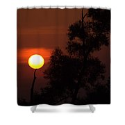 Supporting The Sun Shower Curtain
