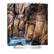 Surf And Cliff Shower Curtain