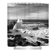 Surf At Cambria Shower Curtain