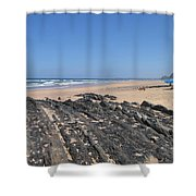 Surf Beach Portugal Shower Curtain