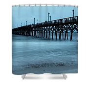 Surf City Pier Soft 2 Shower Curtain