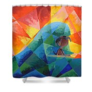 Surf Dog Shower Curtain