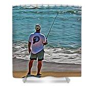 Surf Fishing Shower Curtain