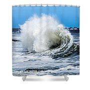 Surf Is Up At York Beach Shower Curtain