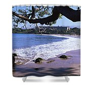 Surf On The Beach, Mauna Kea, Hawaii Shower Curtain