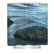 Surf Statues Shower Curtain