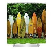 Surfboard Fence Maui Shower Curtain